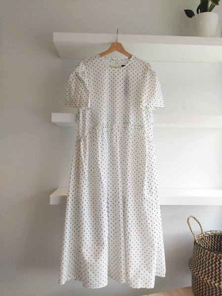 Toit Volant Spring Garden Dress - White/Black