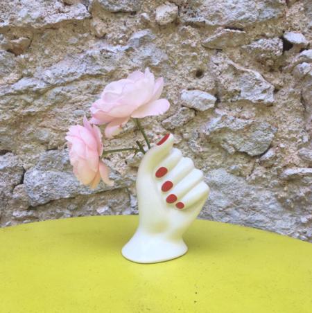 Bitossi Ceramic Polished Nails Vase - Red/Black