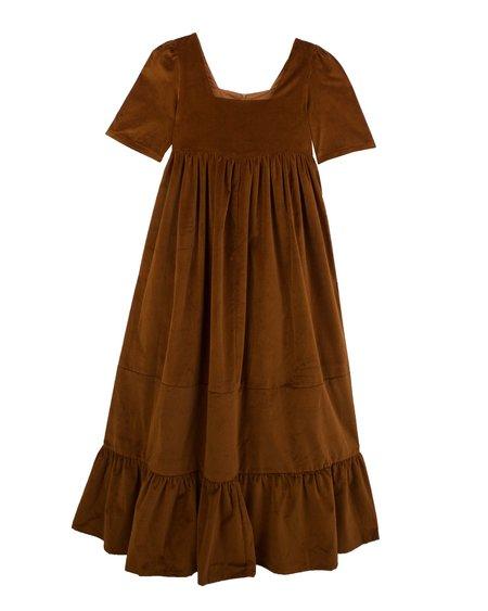 Meadows Clover Dress - Chocolate Velvet