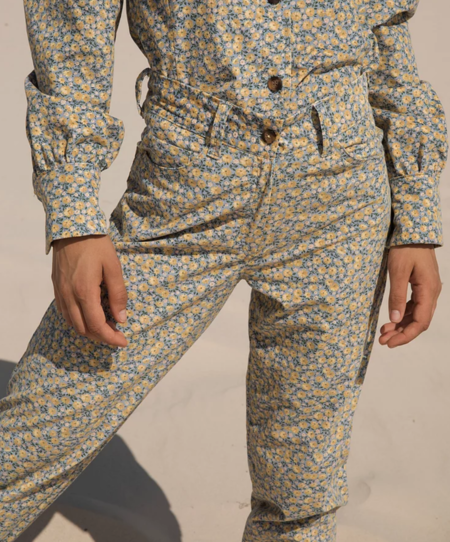 Tach Clothing Crystal Corduroy Pant - Floral