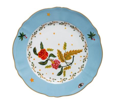 Bitossi Flower Dinner Plate