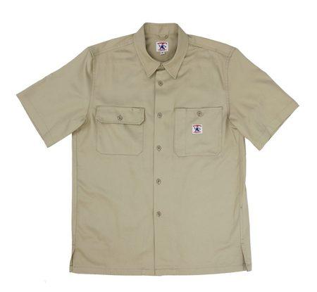 Randy's Garments Short Sleeve Utility Shirt - Light Khaki