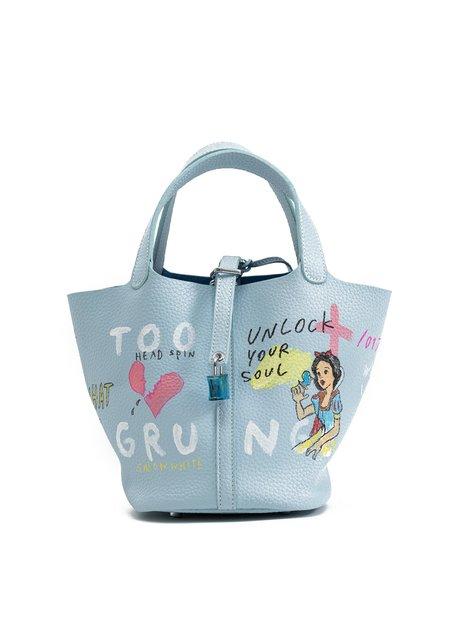 Guernika Paint Cube Bag - Light Blue