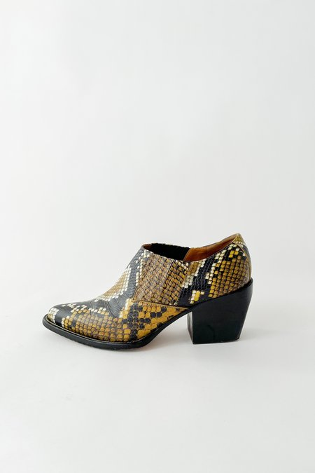 Vintage Chloé Snake Embossed Leather Booties