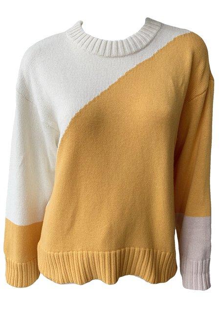 Apiece Apart Shasta Graphic Knit Sweater - Multi Sunrise