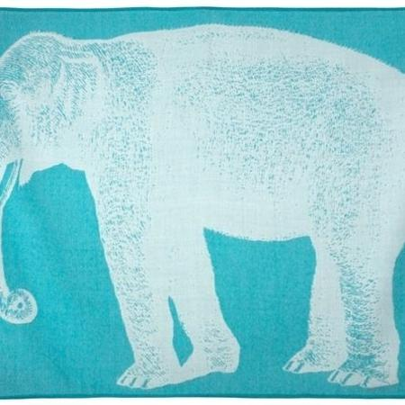 kids thomas paul elephant baby throw - aqua