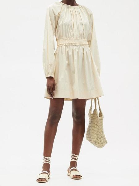 Three Graces Rosette Dress - Chalk
