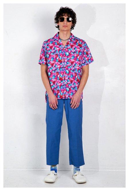 Graphia New York Camp Collar Print Short Sleeve Shirt - Red Floral Dream