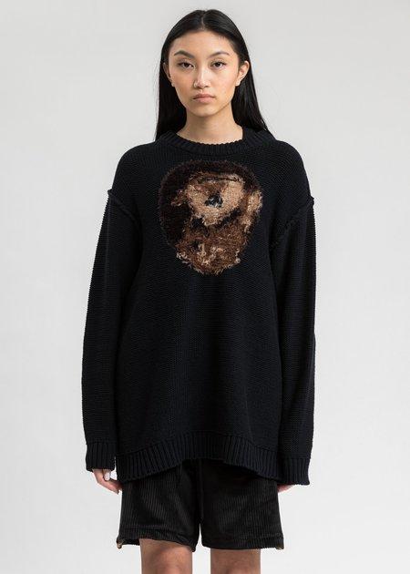 Doublet Hand Knitting Jacquard Pullover - Dark Navy