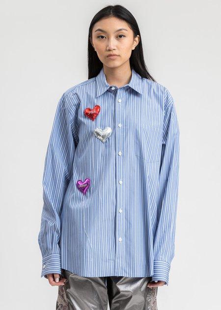 Doublet Happy Balloons Stripe Shirt - Light Blue