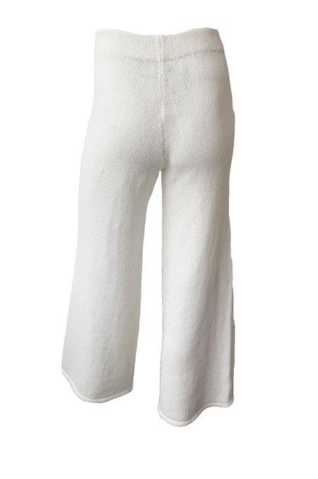 St. Agni Rem Knit Lounge Pants - White