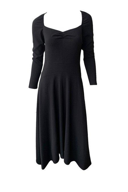 VINCE Ruched Long Sleeve Dress - Black