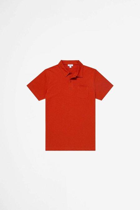 Sunspel Riviera Polo Shirt - Burnt Orange