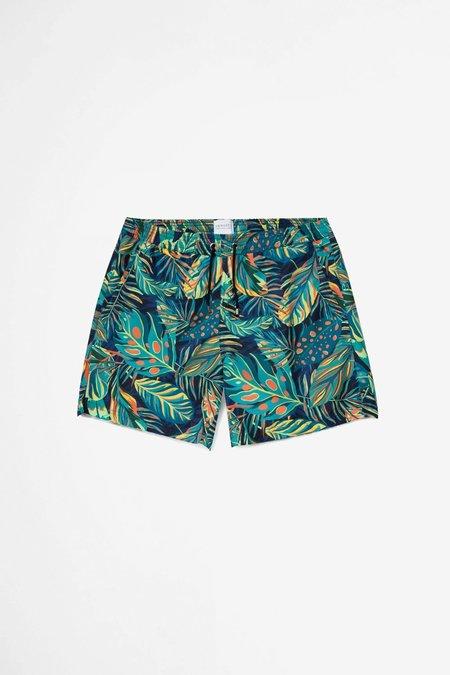 Sunspel Swim Short - Liberty Rainforest Print/Navy