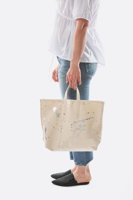 TEMBEA Small Painters Tote - Natural/Silver