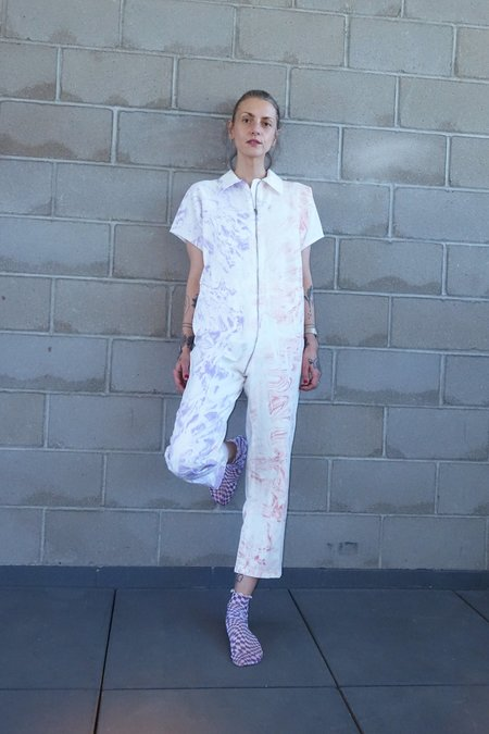 Rachel Comey Barrie Jumpsuit - Lilac Marble Chino