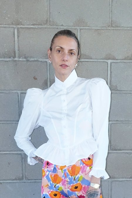 BATSHEVA Grace Blouse - White