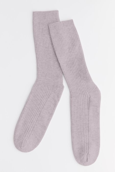 Laing Home The Sleeper Cashmere Bed Socks - Dusky Pink