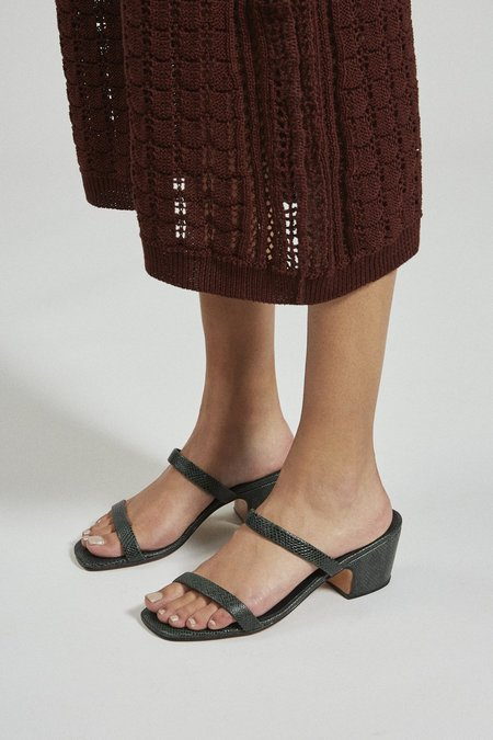 Rachel Comey Low Lico Slide - White Pebbled Leather