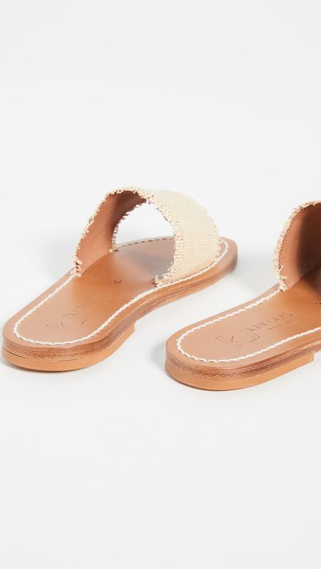 K.JACQUES Anacapri Sandals - Raffia Miel