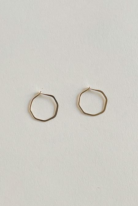 Melissa Joy Manning 14k Extra Small Octagon Hoop - Gold