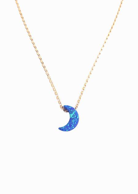 Siren Jewelry Opal Moon Necklace