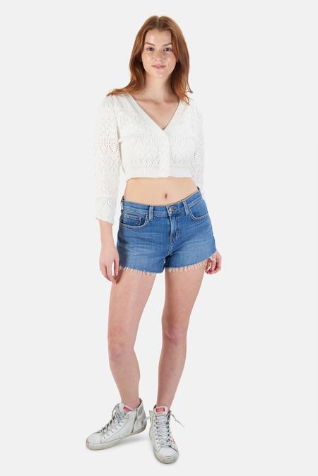For Love & Lemons Blanca Crochet Cardigan Sweater - Ivory