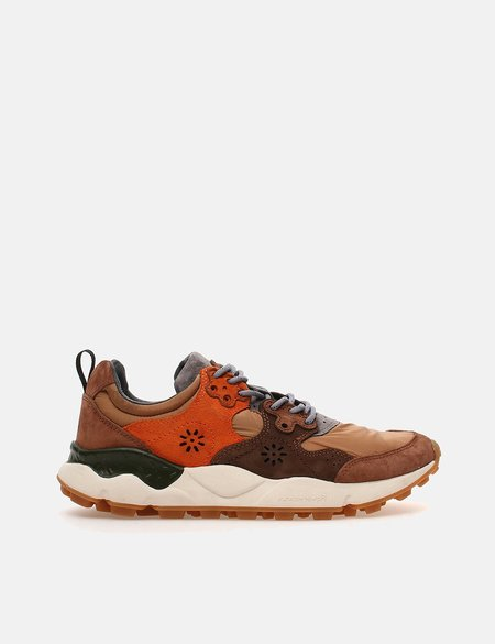 Flower Mountain Nylon and Suede Yamano 2 sneakers - brown