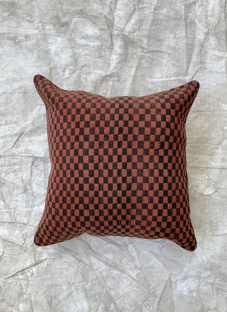 Cuttalossa & Co. Checkered Woven Pillows - Brick