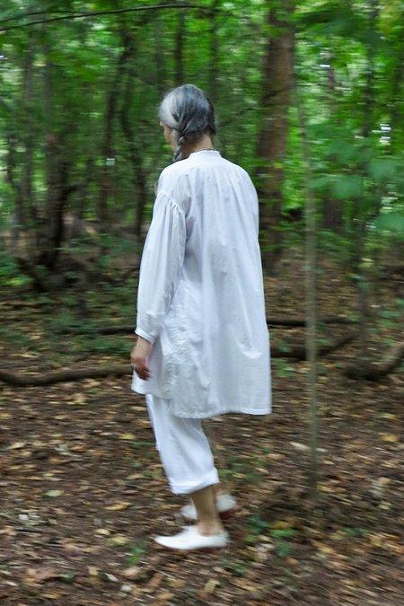 UQNATU Popover Tunic - White Batiste