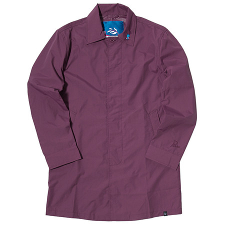 BY PARRA NYLON RAIN COAT / EGGPLANT