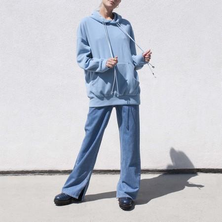 Priscavera Oversized Hoodie - Heather Blue