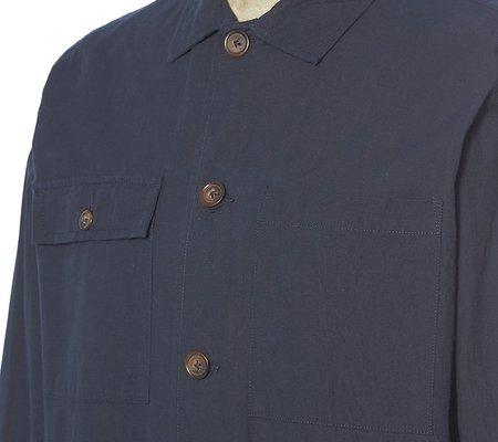 Universal Works Ripstop Cotton Dockside Overshirt - Navy