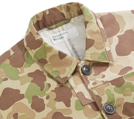 Universal Works Patched Mill Bakers Jacket - Peacekeeper Camo