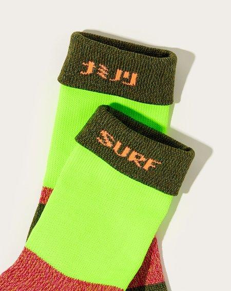 Kapital 92 Yarns Super-dry Grandelle Gogh Socks - Khaki