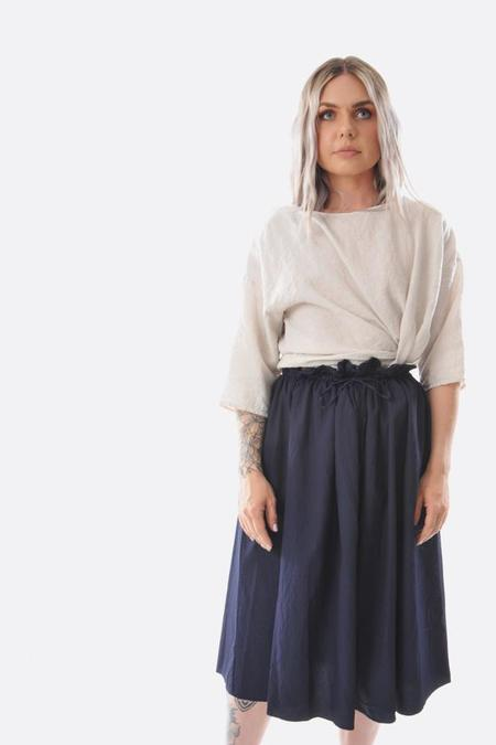 Manuelle Guiba Vico Gathered Skirt - Navy