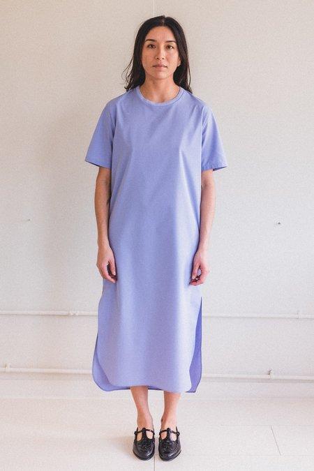 SEYA NAOKO T-DRESS - BULE SILKY COTTON