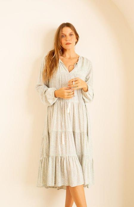 Natalie Martin Elisha Dress - Light Blue Coral