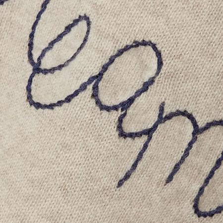 Lingua Franca Dream On Cashmere Sweater - oatmeal/navy