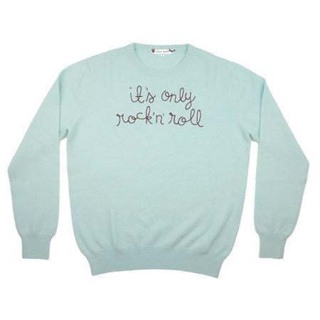 Lingua Franca It's Only Rock 'n Roll Cashmere Sweater