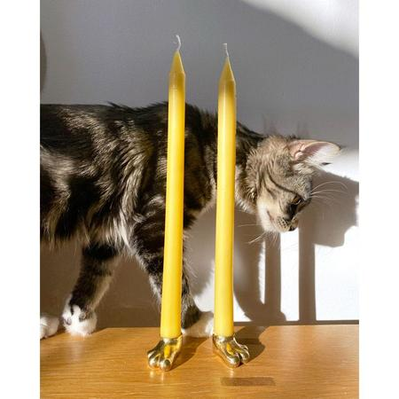R.E. Elle Single Solid Brass Foot Candle Holder