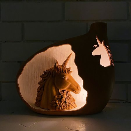 Vintage Unicorn Cutout Lamp