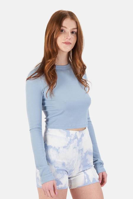 Cotton Citizen Verona Crop Shirt - Crystalline