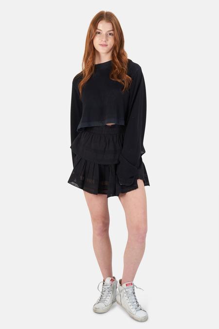 LoveShackFancy Ruffle Mini Skirt - Black