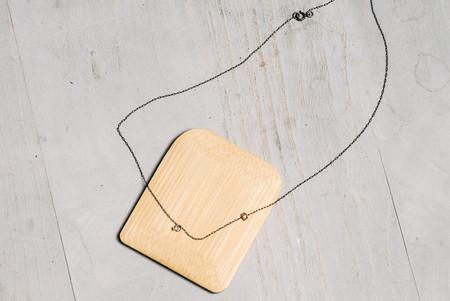 Bernbach Studio reclaimed industrial diamond necklace in 18 karat gold