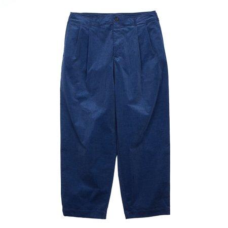Comme Des Garcons TAPERED CORDUROY PANTS - BLUE
