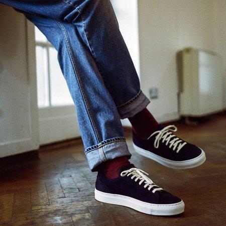 Unseen Helier Suede Sneaker - Navy