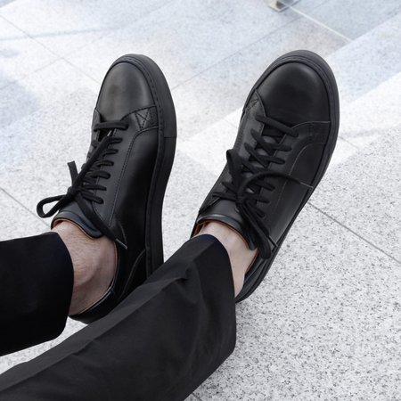Unseen Footwear Helier Tonal Leather - Black