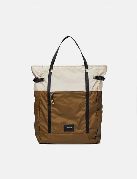 Sandqvist Roger Lightweight Backpack - Sand/Olive