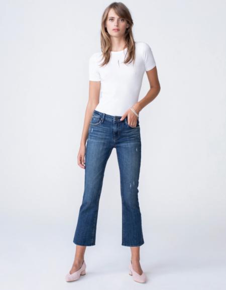 Mmē Mid-Rise Cropped Kick Flare Jean